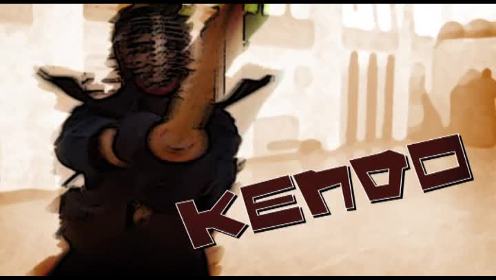 Image of the cover of the video;Via Esportiva: Kendo