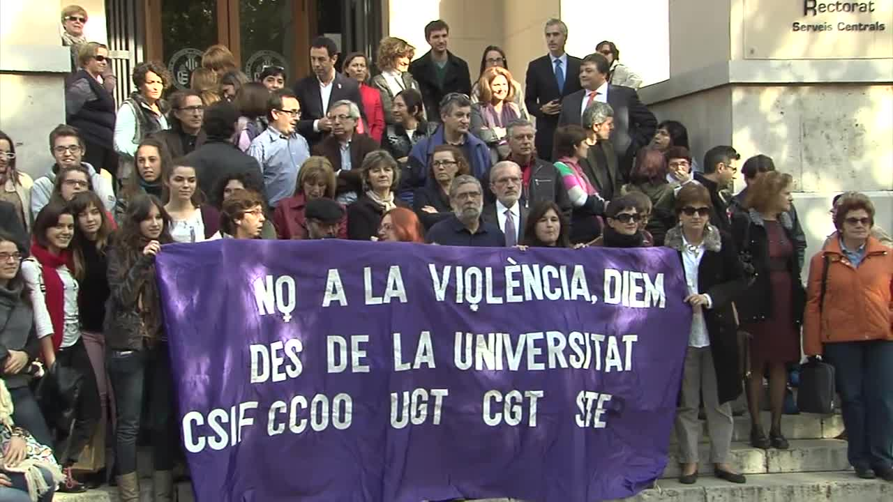 Image of the cover of the video;Dia de l'eliminació de la violència contra les dones