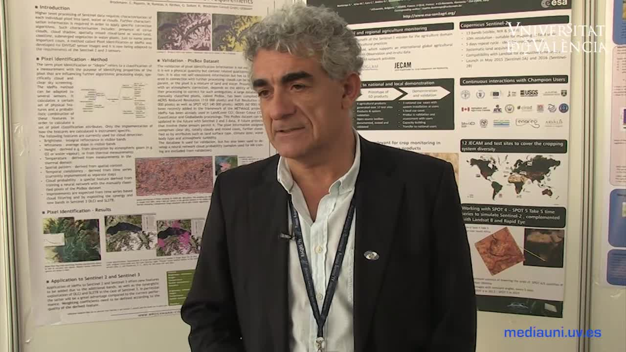 Image of the cover of the video;Interview with José Antonio Sobrino on remote sensing in Spain