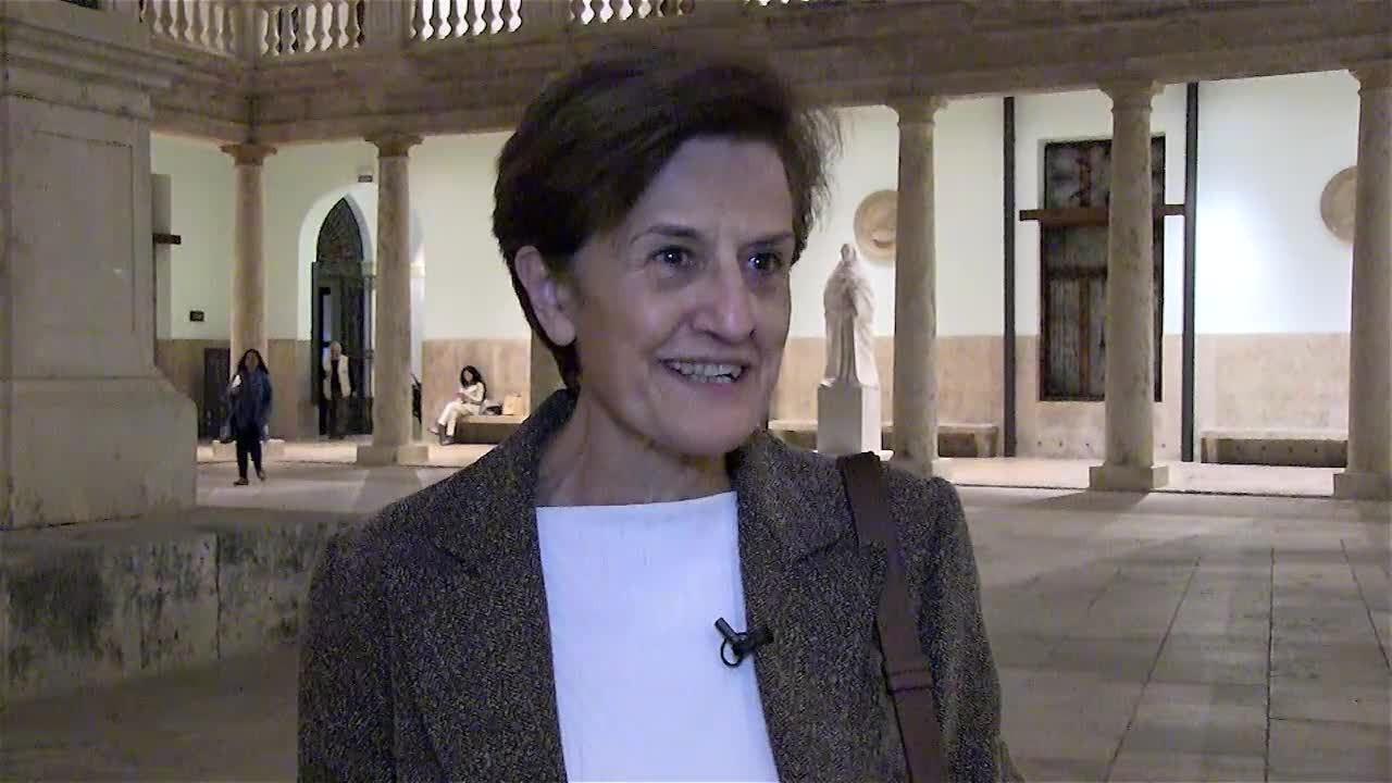 Image of the cover of the video;Interview with Adela Cortina. Professor of ethics