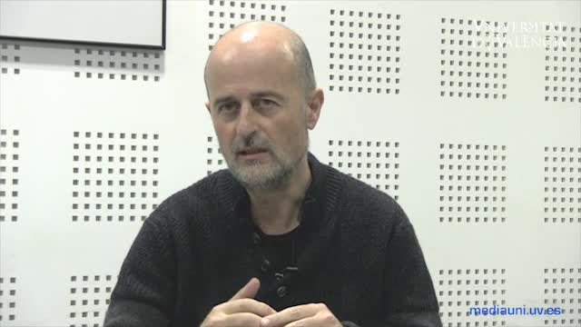 Image of the cover of the video;Interview with scriptwriter Joan Marimón