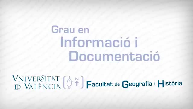 Image of the cover of the video;Grau en Informació i Documentació