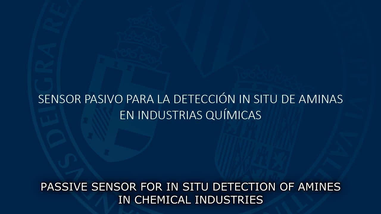 Image of the cover of the video;Sensor passiu per a la detecció 'in situ' d'amines en indústries químiques